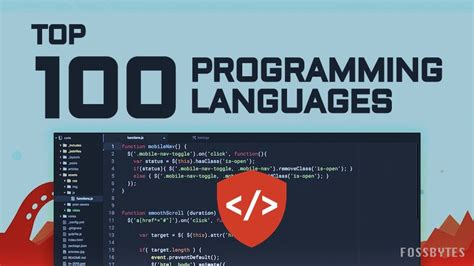 Top 100 Most Popular Programming Languages Of 2016
