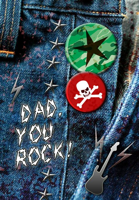 Dad You Rock - Father's Day Card (Free) | Greetings Island