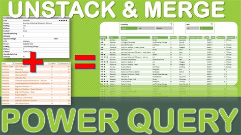 Excel Power Query Tutorial: Unstack & Merge Data Using