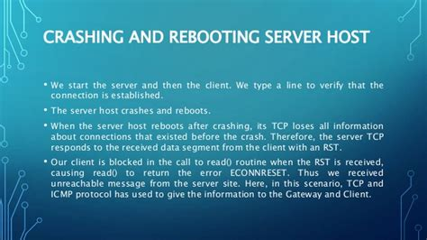 Client server examples for tcp abnormal conditions