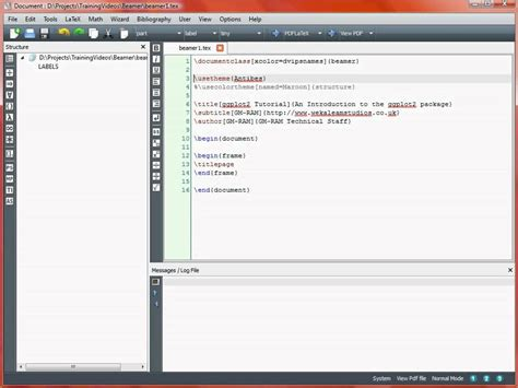 LaTeX Beamer Introduction - YouTube