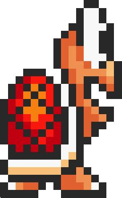 Image - Koopa Troopa SMB3 SNES Sprite Standing Right Red