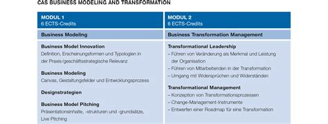 CAS Business Modeling and Transformation   ZHAW School of