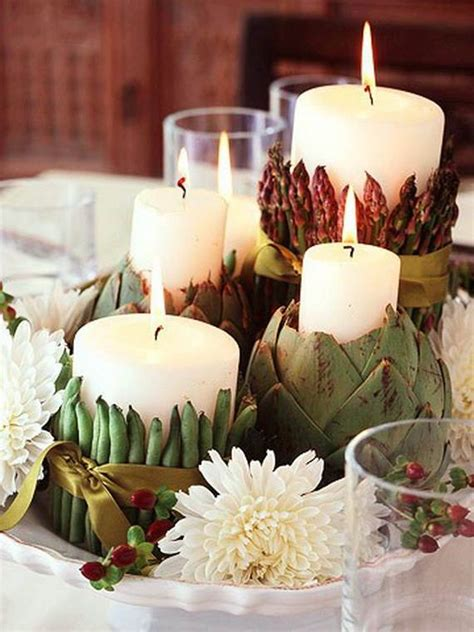 Thanksgiving Candle Centerpiece Idea - family holiday