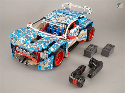 Super fast LEGO Technic 42077 Rally Car RC mod with Buggy