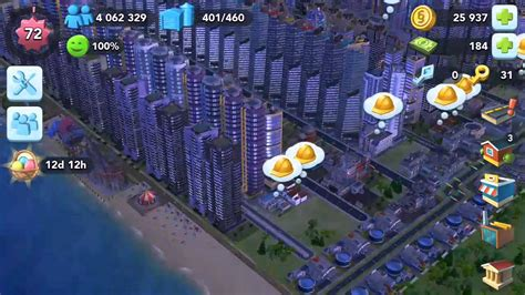 Simcity Buildit, 4 million population reached - YouTube